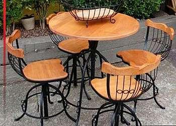 Mesa aço inox 6 cadeiras